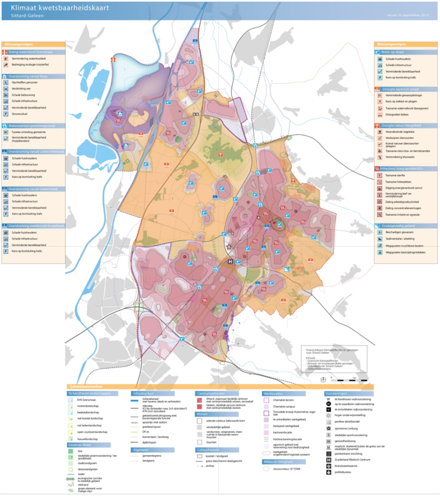 Climate Impacts On SittardGeleen Spatial Adaptation - Geleen map